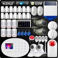 KERUI W20 новая модель Беспроводной Touch Панель Wi Fi GSM охранной сигнализации Системы приложение RFID карты WiFi IP Камера умная розетка Siren