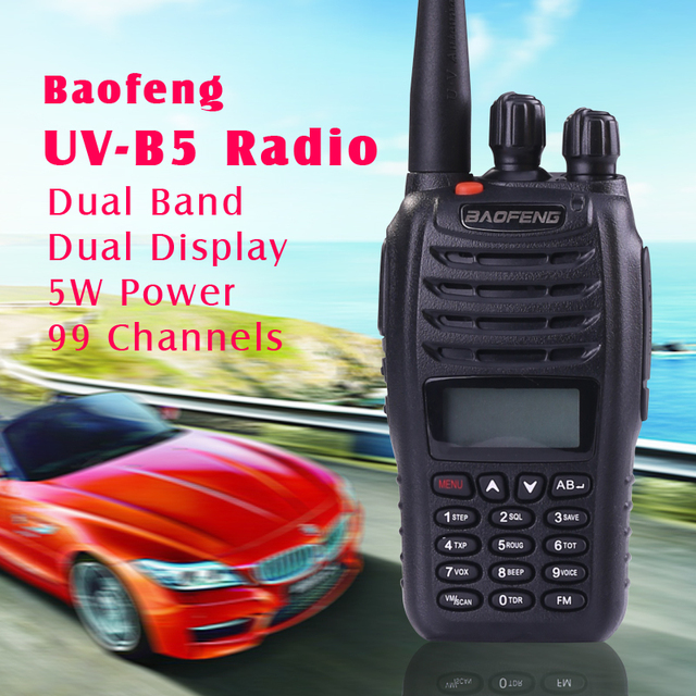 Newest handheld two way radio BaoFeng Dual Band walkie talkie UV-B5 Handheld Walkie Talkie