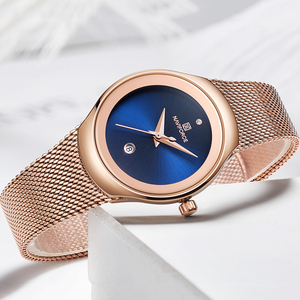 Image 5 - Relogio Feminino Women Watch NAVIFORCE Top Brand Luxury Fashion Ladies Quartz Watches Mesh Stainless Steel Casual Clock Girl