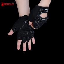 Boodun Vægtløftning Håndvægte Breathable Black Gloves Fitness Sport Gym Træningshandsker Mænd Handsker Anti-slip Body Building