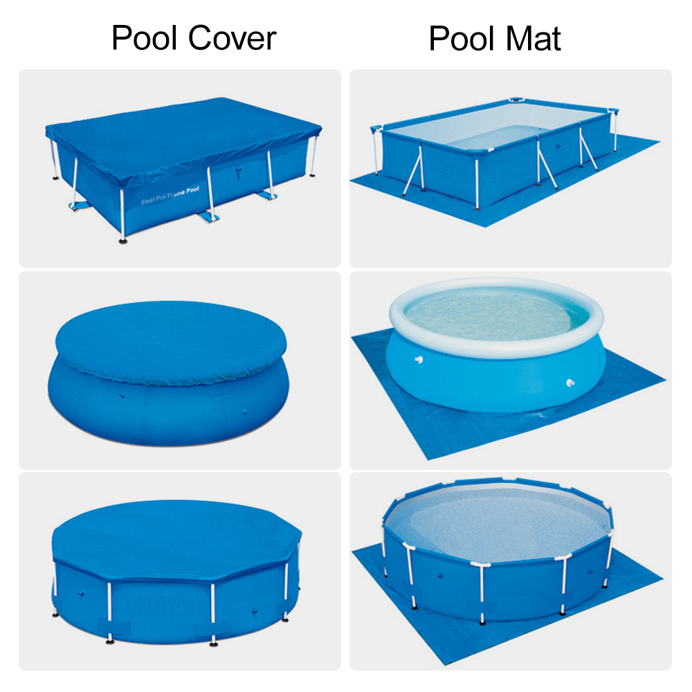 Swimming Pool Cover Swimming Pool Ground Mat High-quality UV-resistant Polyester Rainproof Dust Cover Swimming Pool Accessories