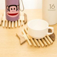 Creative apple fish type bamboo wooden insulating eat mat cup mat plate MATS round bowl
