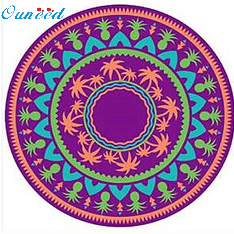 New Hot Beach towel( Serviette de plage ) 150cm*150cm Round Beach Pool Home Shower Towel Blanket Table Cloth Yoga Mat Mar731