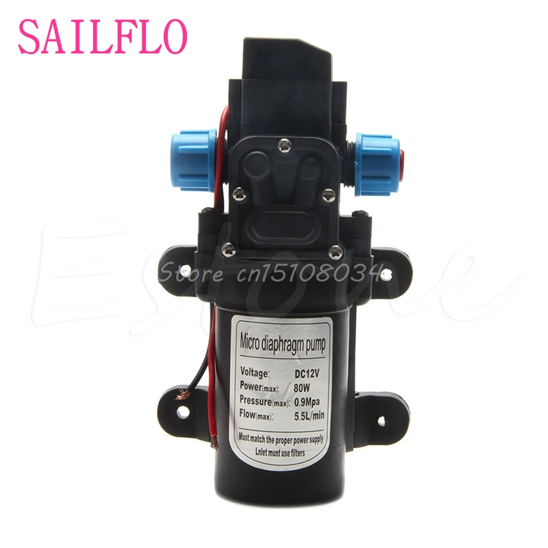 New DC 12V 80W 0142 Motor High Pressure Diaphragm Water Self Priming Pump 6L/Min S08 Wholesale&DropShip