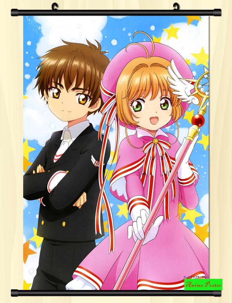 Anime Card Captor KINOMOTO SAKURA Scroll Home Poster Wall Decor Gift 60*90cm