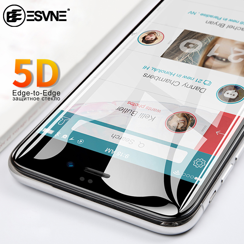5D Curved Edge Tempered Glass For Iphone 7 Glass 6s 8 Plus IPhone 6 Glass Full Cover Protection Glass IPhone 7 Screen Protector