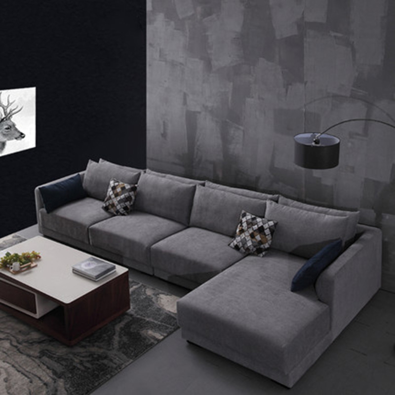 Apartment Sized Sectional Sofa: Scandinavian Downholstery Soft And Simple Modern Living