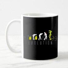 Funny Geek Evolution of Alien Mug Cool Alien Evolution Coffee Mug Boy Kids Birthday Christmas Present Ceramic 11oz