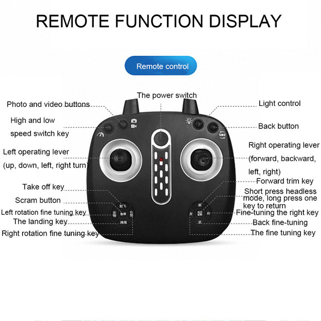 FPV Intelligent Folding Drone Quadcopter with  WIFI FPV 480P HD Camera