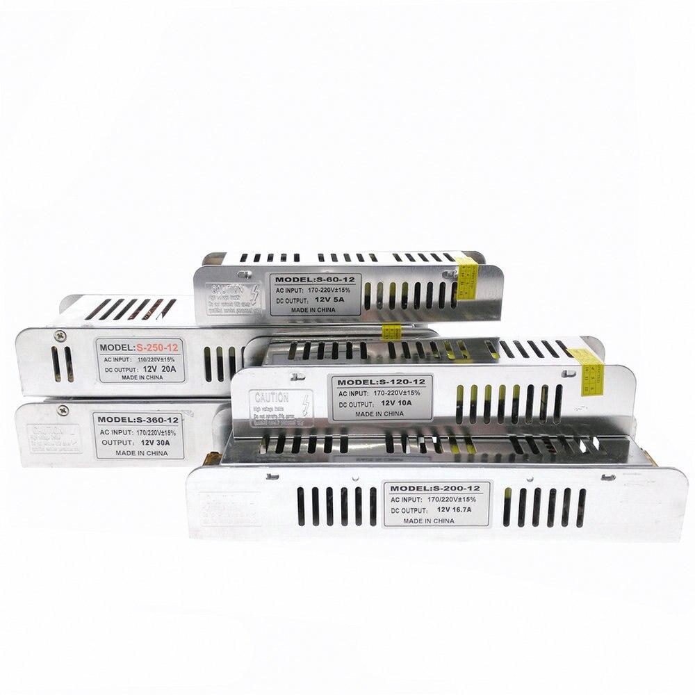 Tiras de Led 12 v levou adaptador transformadores Número Led/m : Optional