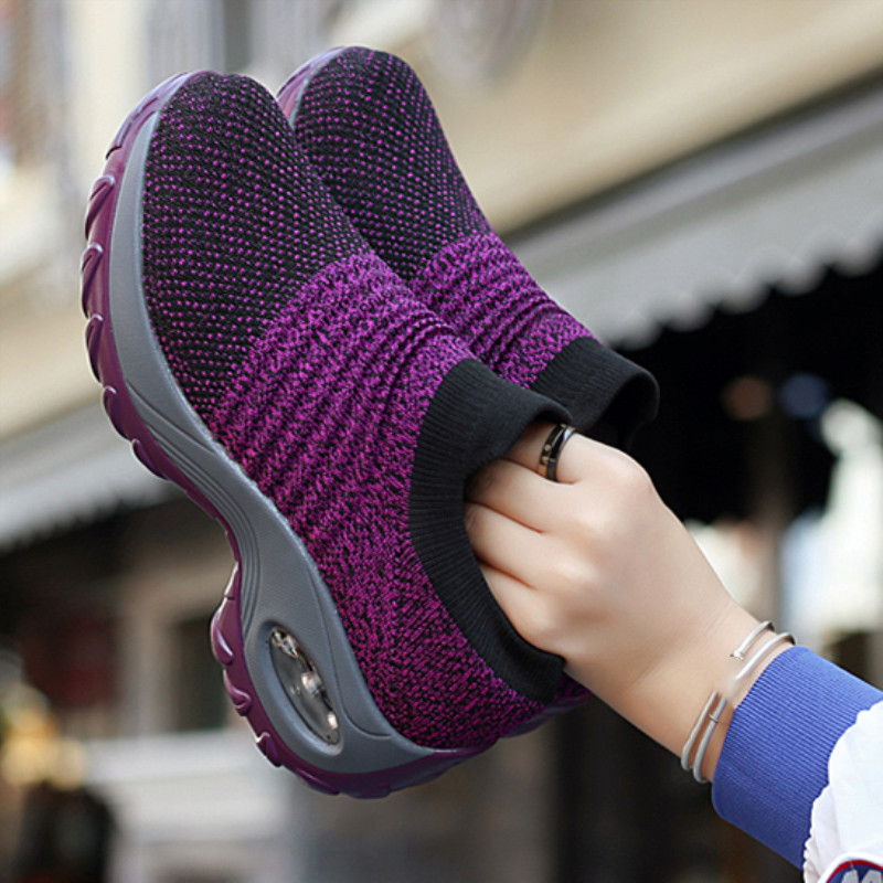 Women Platform Sneakers 2019 Spring ladies Wedges Casual Shoes female Trainers Comfortable Femme Height Increasing Women Shoes