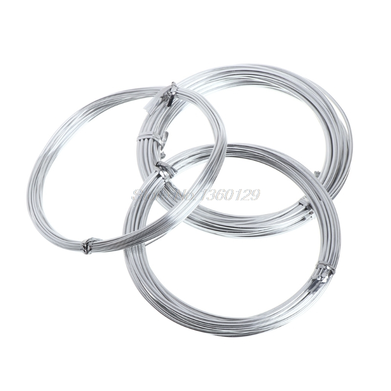 Aluminium Wire DIY Doll Bracket Pottery Clay Sculpture Tools Mold Mould Skeleton Frame 1mm 1.5mm 2mm Pottery Tools Oct12