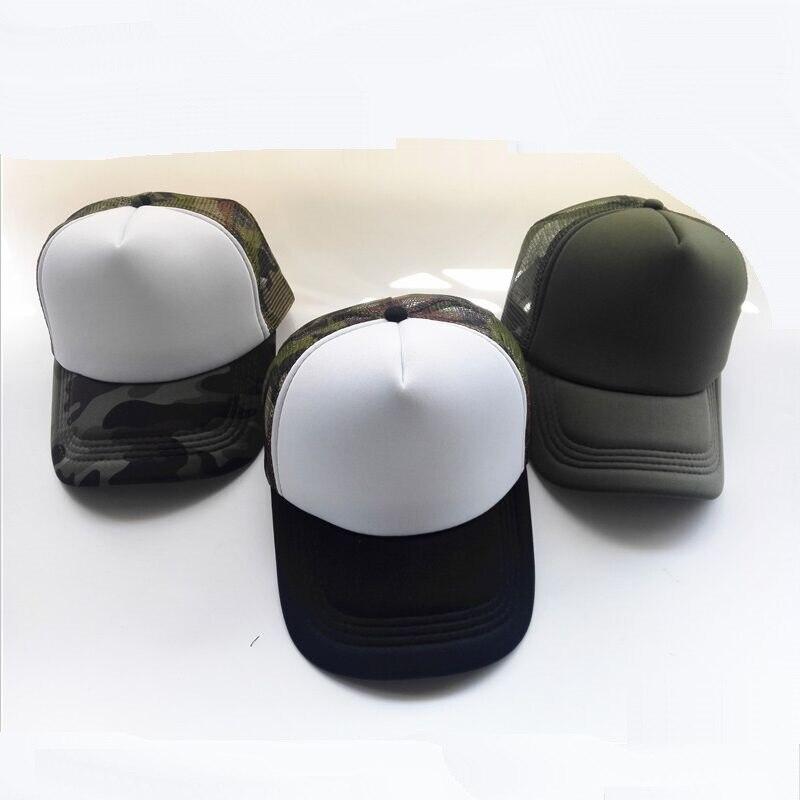 4843d9a280a Summer Adult Mesh Sport Trucker Hats Camo Army Green Blank Men s Baseball  Caps 5 panels Snapback Hats Casquette Gorras Visor