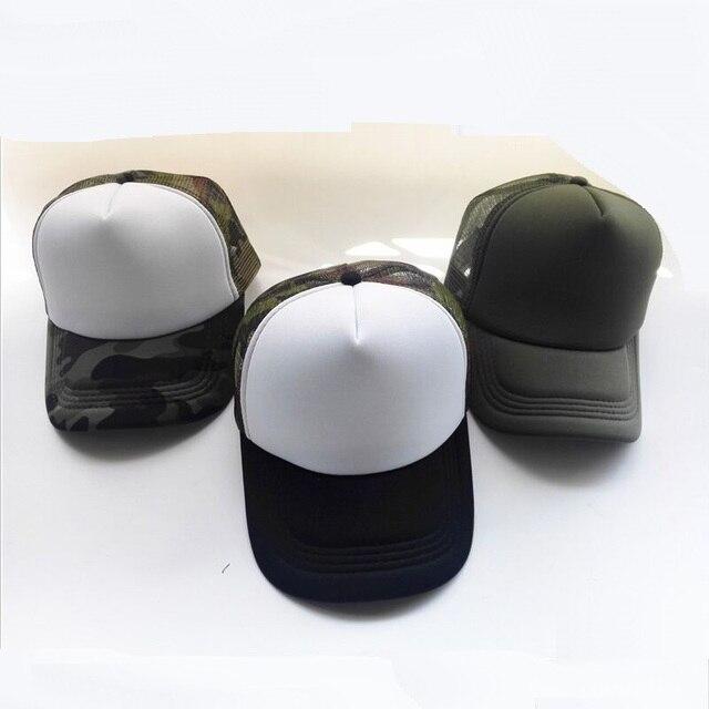 Summer Adult Mesh Sport Trucker Hats Camo Army Green Blank Men's Baseball Caps 5 panels Snapback Hats Casquette Gorras Visor