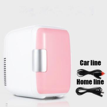 Dual-Use 4L Home Car Use Refrigerators Ultra Quiet Low Noise Car Small Refrigerators Freezer Cooling Heating Box Fridge