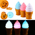 Led Night Light Ice Cream Lamp Led Lamp Night For Kids Children Cone Shaped Desk Table Lights For Bedroom