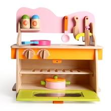Wooden Kitchen Toys Set Children Pretend Play Kitchen Toys C
