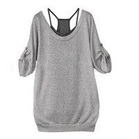 T 셔츠 여성 펑크 스타일의 중공 다시 크로스 오버 조끼 티셔츠 사이즈 S-XXL DM #6