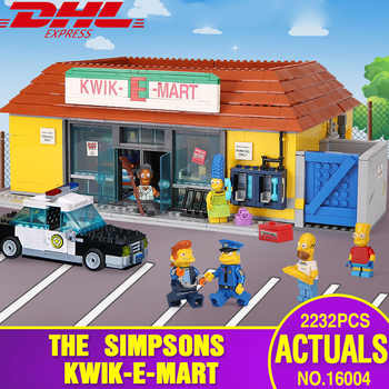 DHL 16004 Movie Toys The 71016 Simpsons Kwik-E-Mart Building Blocks Set Bricks Kits Gift Clone Toys for children Christmas gift - DISCOUNT ITEM  20% OFF All Category