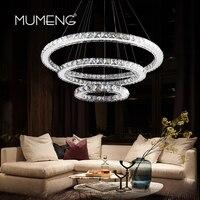 Mumeng LED Lampadario di Cristallo Moderno Anello Appeso Lampada Della Cucina 3/2/1 Cerchio Sala da pranzo Soggiorno Luce apparecchio