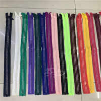COLOR 60cm 2-row A grade AB Crystal Rhinestone zippers Dress Colthes Sewing 2 pcs