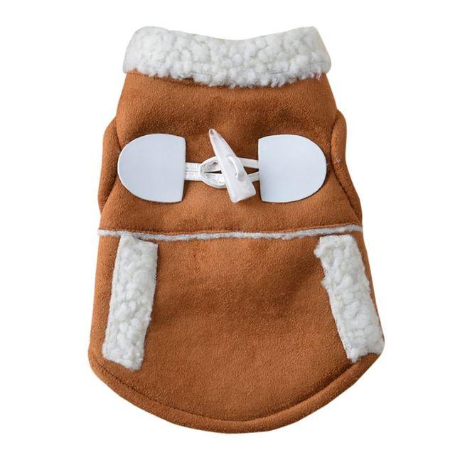 Pet Dog Cat Winter Clothes Coat Apparel Puppy Warm Motorcycle Vest Costume