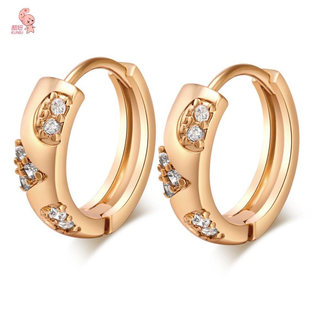 Aliexpress : Buy New Stylish Hoop Earrings With Shing Cubic Zircon Cz  Crystals Jewelry Celebrity Wedding Gold Earrings For Women From Reliable  Hoop