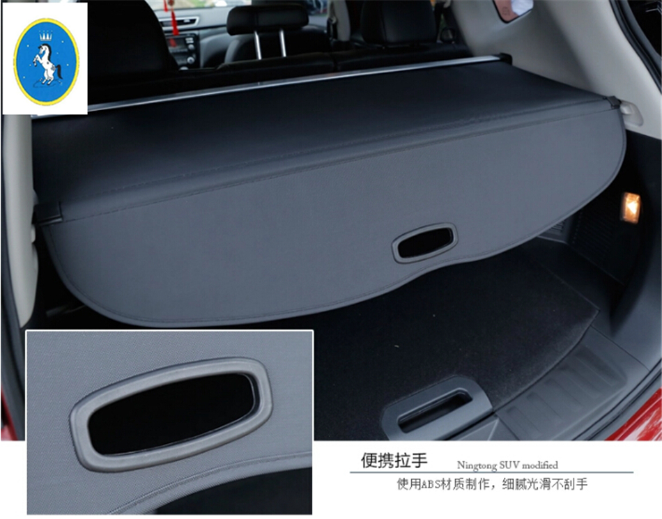 For Nissan X-Trail X Trail T32 Rogue 2014 2015 2016 Rear Trunk Security Shield Cargo Decoration Protection Cover Trim A Set car rear trunk security shield cargo cover for honda fit jazz 2008 09 10 11 2012 2013 high qualit black beige auto accessories