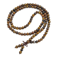 Natural Tiger Eye Stone Healing Mala Beads