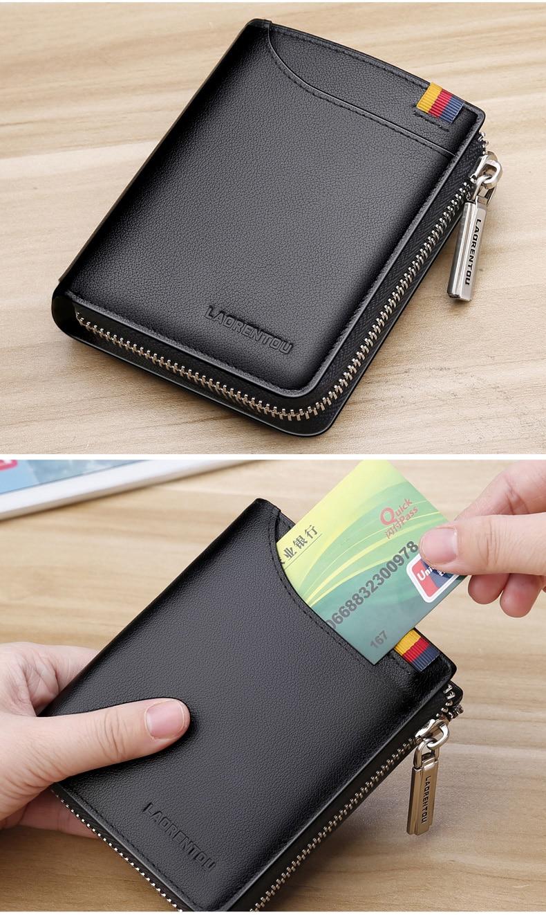 moeda bolsa de couro genuíno curto carteira
