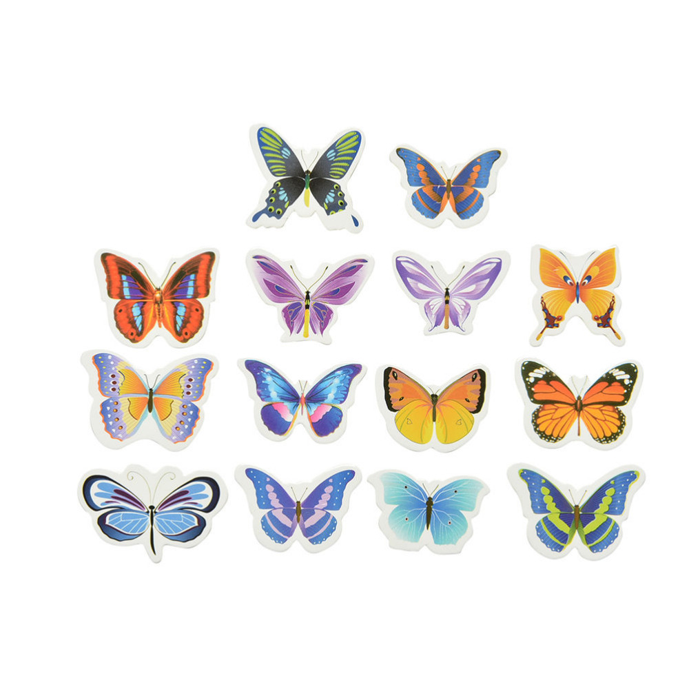 50pcs/lot Mixed Butterfly Glutinous Wafer Rice Paper Cake Cupcake Toppers For Cake Decoration Birthday Wedding Cake Tools