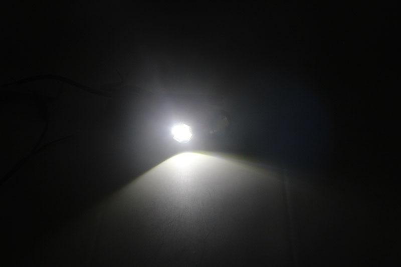 1 * Bil LED-ljus 12V 23MM 6 LED Dubbelfärg Vit / Amber Eagle-ögon - Bilbelysning - Foto 4