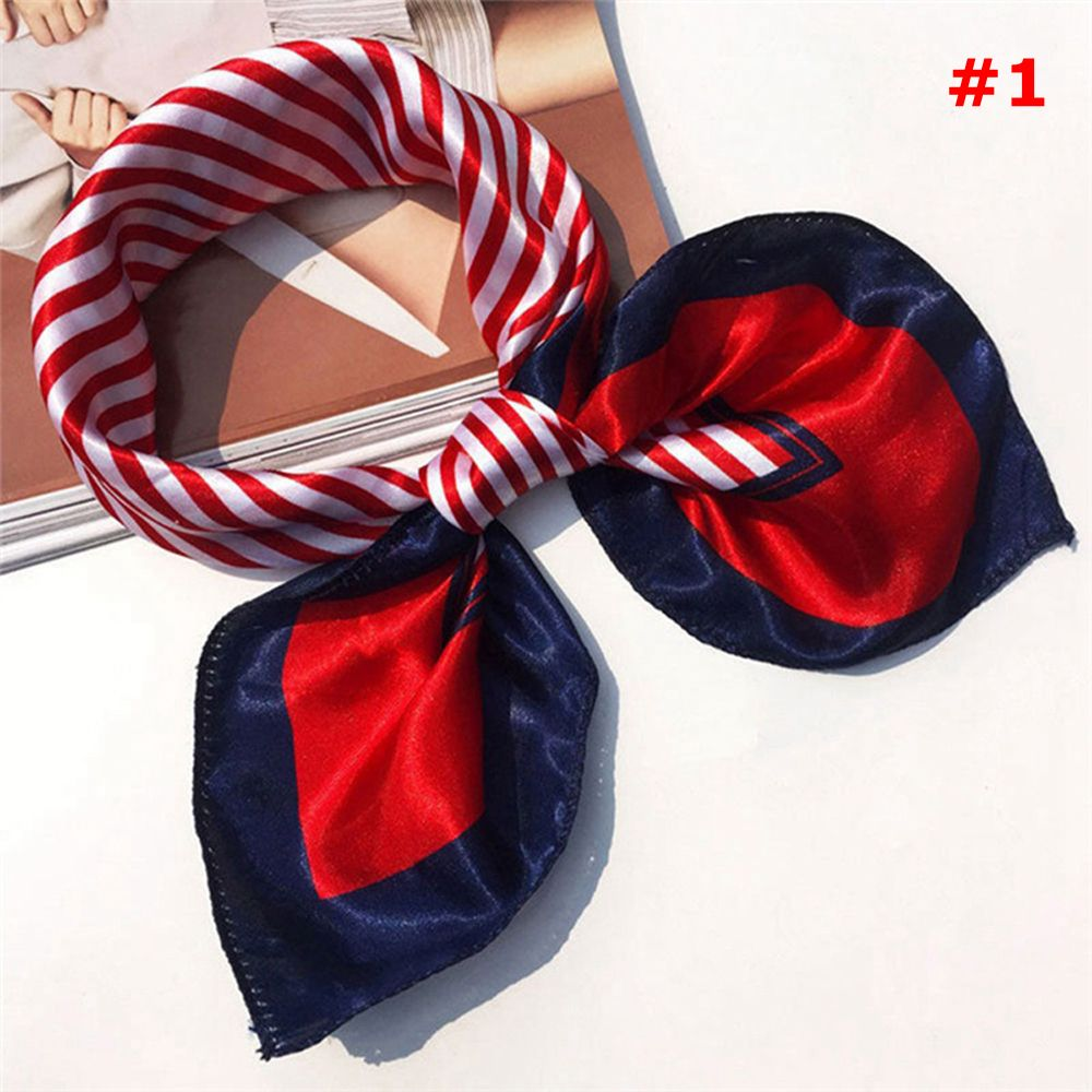 Small Vintage Soft Fashion Silk Square Scarf Scarves Elegant Women's tie Bandanas Head Wrap Head Neck Shawl Scarf Accessories