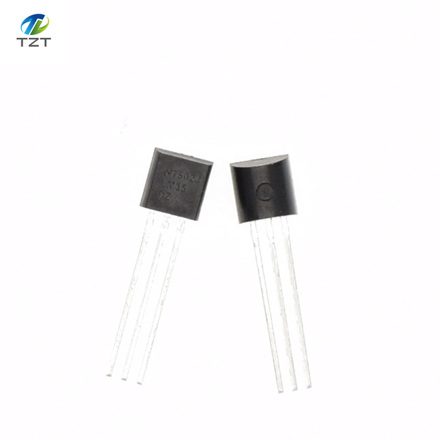 Integrated Circuit LM35DZ TO-92 LM35 Precision Centigrade Temperature Sensor For IC Low Impedance