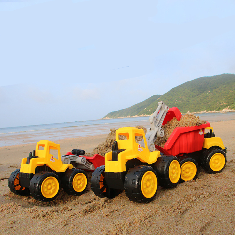 Big size Beach toy cars Engineering car vehicles truck excavator bulldozer model toys Classic Play house Toys kids Boy toys 5