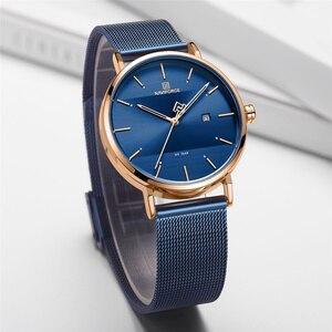 Image 5 - NAVIFORCE Luxury สแตนเลสสตีลนาฬิกาข้อมือผู้หญิง Rose นาฬิกาสไตล์ควอตซ์ผู้หญิงนาฬิกา 2019