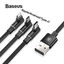 Baseus 3 in 1 Micro USB Type C Cable for USB-C Mobile