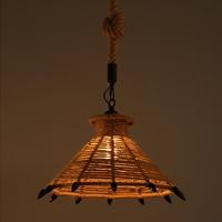 A09 American Village Loft Pendant Lamp Retro Hemp Rope Pendant Lights Creative Loft Pendant Lamp
