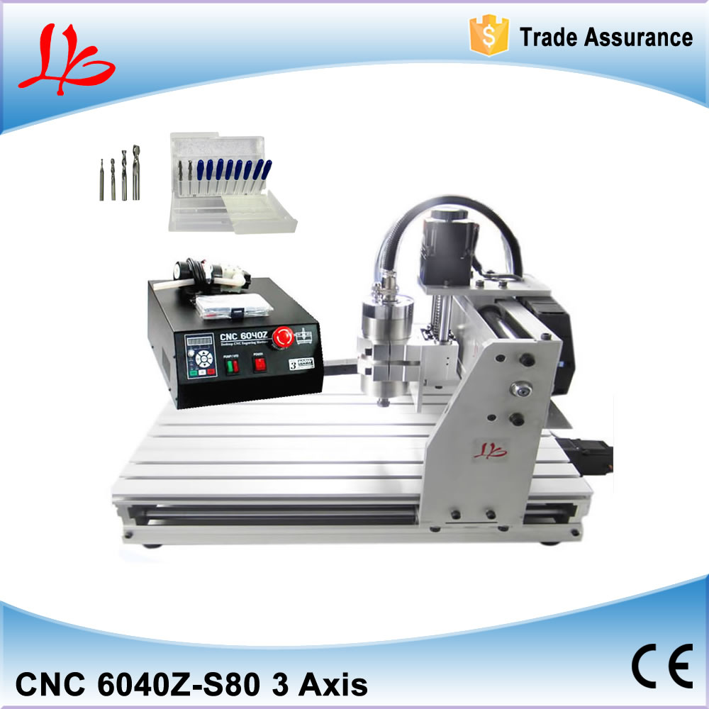 top ten selling products 6040 Z-S80 CNC router 1.5KW Ball Screw metal etching machine ,cnc metal engraving machine