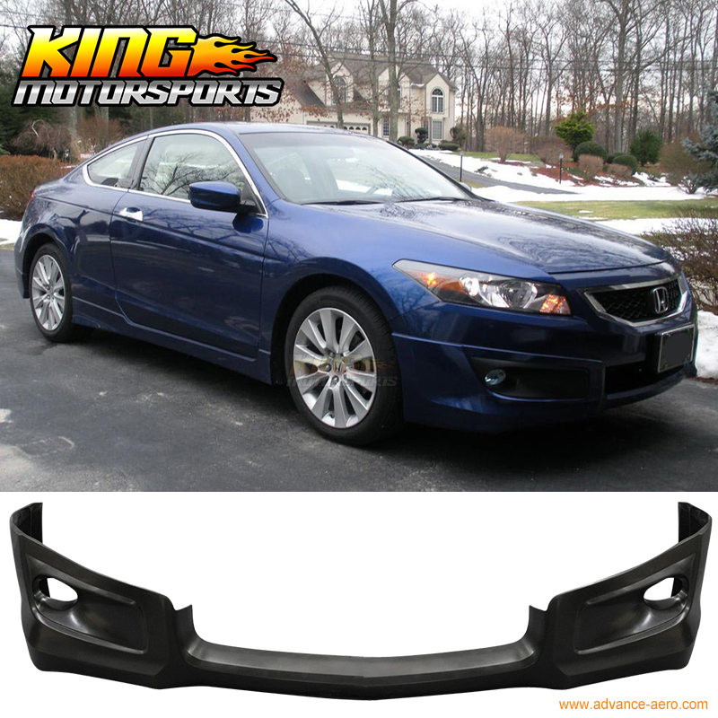 Fit 2008 2009 2010 Honda Accord 2Door Coupe HFP Style Front Bumper Lip PU