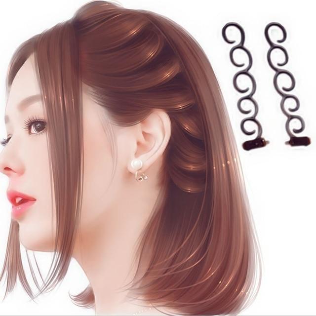 Fransız Elegance Saç Braider Çiçek Sihirli saç tokası Stilist Kuyruk Büküm Plait DIY Saç Şekillendirici Aksesuarları Rastgele Renkler