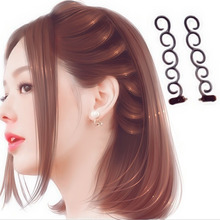 French Elegance Hair Braider Flower Magic Hair Clip Stylist Queue Twist Plait DIY Hairstyle Styling Accessories Random Colors