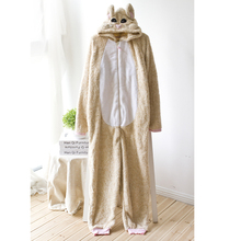 Adult Onesie Winter Coral Fleece Fox Sleepwear Unicorn Pajamas Women's Sleep Lounge Pajama Sets Pyjama Licorne