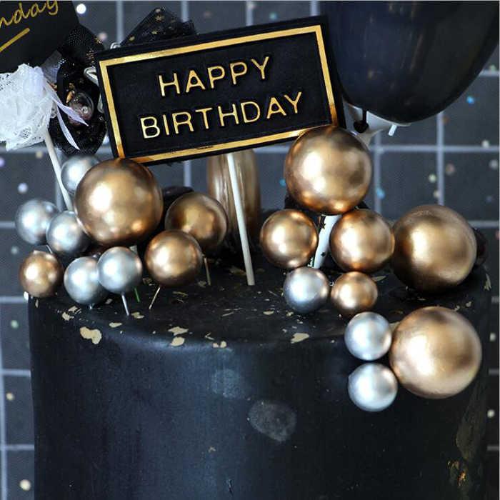Bannière pour décoration de gâteau bricolage | Tasse à emballer de Cupcake, boule d'or pour anniversaire/mariage, décoration de Table de bar, réception-cadeau pour bébé