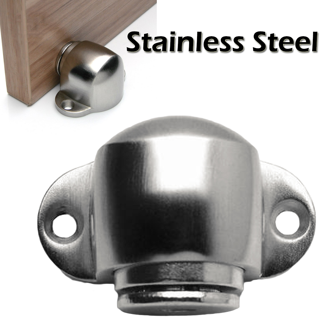 Stainless Steel Strong Magnetic Door Stopper Suction Gate Supporting Hardware Powerful Mini Door Stoper  with Catch Screw MountStainless Steel Strong Magnetic Door Stopper Suction Gate Supporting Hardware Powerful Mini Door Stoper  with Catch Screw Mount