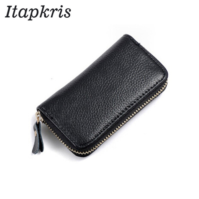 319ef60cdbcec9 Itapkris High Quality Genuine PU Leather Key Wallet New Car Key Holder  Small Coin Purses Holder Zipper Housekeeper Keyring