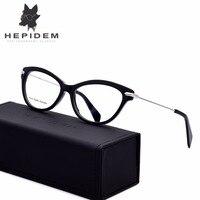 HEPIDEM Acetate High Quality Handmade Glasses Frame Women Prescription Female Cat Eye Eyeglasses Optical Frame Cateye