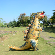 de cosplay dinossauro adulto