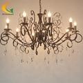 European-style luxury crystal chandelier penthouse floor villa living room lights restaurant retro chandelier lighting