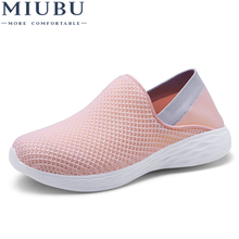 MIUBU Summer Casual Shoes Woman Slip-On Platform Flats Female Breathable Zapatillas Slipony Lovers Shoes Zapatillas Mujer цена